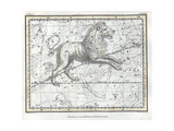 Leo Constellation, Zodiac, 1822 Giclée-Druck von  Science Source
