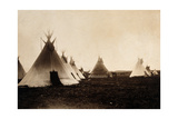 Piegan Indian Tipis, Medicine Tipi, c. 1900 Photographic Print by  Science Source