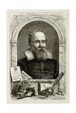 Galileo Galilei, Italian Astronomer Giclée-Druck von  Science Source