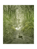 Adam and Eve and Snake by Dore Lámina giclée por  Science Source