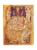 Psalter World Map Giclee Print by  Science Source