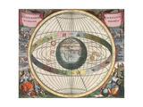 The Universe of Brahe, Harmonia Macrocosmica, 1660 Reproduction procédé giclée par  Science Source