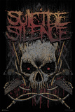 Suicide Silence- Gothic Jolly Rodger Poster