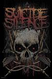 Suicide Silence- Gothic Jolly Rodger Lámina