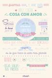 Amelie- Pienso Menos Y Viva Mas (Think Less, Live More) Kunstdruck