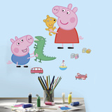 Peppa Pig - Peppa/George Playtime Peel and Stick Giant Wall Decals Wall Decal