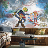 Captain Jake & the Never Land Pirates XL Chair Rail Prepasted Mural Wallpaper Mural