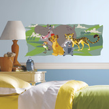 Lion Guard and Friends Peel and Stick Giant Wall Graphic Veggoverføringsbilde