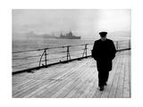 WWII, Winston Churchill, U.K. Prime Minister Fotografisk trykk av  Science Source