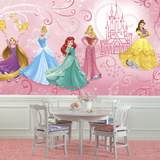 Disney Princess Enchanted XL Chair Rail Prepasted Mural Mural de papel pintado