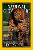 Cover of the October, 2001 National Geographic Magazine Photographic Print by Kim Wolhuter