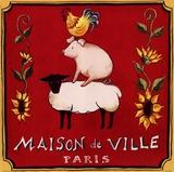 Maison De Ville Print by Katharine Gracey