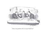 """""""Come, come, gentlemen, this is no way to build trust."""" - Cartoon Premium Giclee Print by Bernard Schoenbaum"""