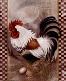Coat Of Many Colors Rooster Stampe di Alma Lee