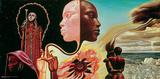 Miles Davis- Bitches Brew Album Art Kunstdrucke von Mati Klarwein