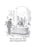 """Sorry, a raise is out.  How about a long lunch break"" - Cartoon Premium Giclee Print by Bernard Schoenbaum"