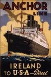 Ireland and USA Poster von  Eaglecrown