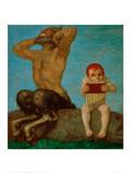 Dissonance, 1910 Gicléetryck av Franz von Stuck