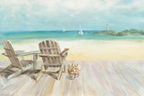 Seaside Morning no Window Poster di Danhui Nai