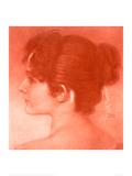 Study of a Female Head Gicléetryck av Franz von Stuck