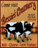 Bessie's Creamery Posters by Grace Pullen