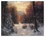 Snow Covered Morning Art by Egidio Antonaccio