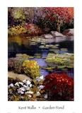 Stagno con piante acquatiche Poster di Kent Wallis