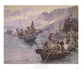 Lewis and Clark On The Lower Columbia Prints by Charles M. Russell