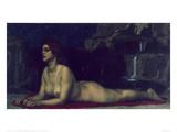 Sphinx, 1904 Gicléetryck av Franz von Stuck