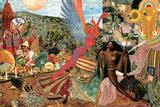 Annunciation- Santana Abraxas Cover Posters