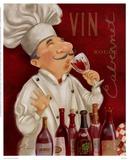 Koch mit Wein III Poster von Shari Warren