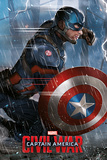 Captain America Civil War- Captain America Print