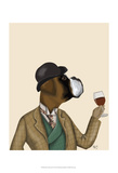 Boxer Wine Snob Posters by  Fab Funky