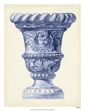 Palace Urns in Indigo IV Giclee Print by Vision Studio