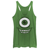 Juniors Tank Top: Monsters University- Smiley Mikey Ermeløse toppen for damer