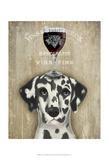 Dog Au Vin Dalmatian Plakater af  Fab Funky