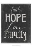 Chalkboard Faith I Affiches par Grace Popp
