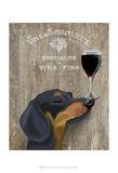Dog Au Vin Dachshund Posters af  Fab Funky