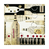 Deco Vino Premium Giclee Print by Liz Jardine