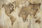 Kart over verden Plakater av Liz Jardine