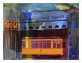 San Francisco Trolley Car Giclee-trykk av Sisa Jasper