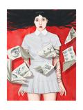 The Girl Who Knew Too Much Giclée-Premiumdruck von Alexander Grahovsky