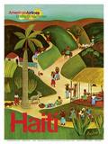 Haiti - Haitian Village - American Airlines Endless Summer Poster von Paul Degen
