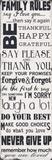 Gezinsregels, poster met opsomming in het Engels: Family Rules Poster van Taylor Greene