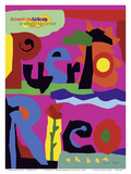 Puerto Rico - Endless Summer - American Airlines Affischer av Paul Degen