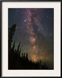 The Summer Milky Way Appears Dazzling over Yellowstone National Park Framed Photographic Print by Babak Tafreshi