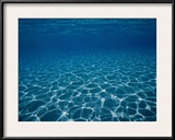 Sunlight Reflects on the Sea Floor Through Crystal Clear Blue Water Framed Photographic Print by Raul Touzon