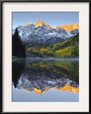 The Maroon Bells in Autumn Framed Photographic Print by Robbie George