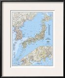 2011 Japan and Korea Map Posters