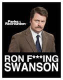 Parks And Recreation- Ron F. Swanson Pôsters